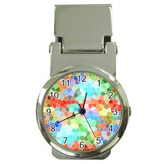 Colorful Mosaic  Money Clip Watches
