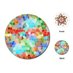 Colorful Mosaic  Playing Cards (round)  by designworld65