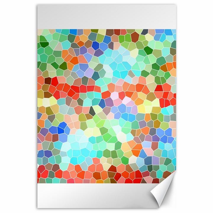 Colorful Mosaic  Canvas 12  x 18