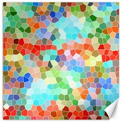 Colorful Mosaic  Canvas 16  x 16