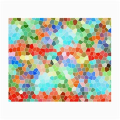 Colorful Mosaic  Small Glasses Cloth (2 Side) by designworld65
