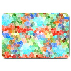 Colorful Mosaic  Large Doormat  by designworld65