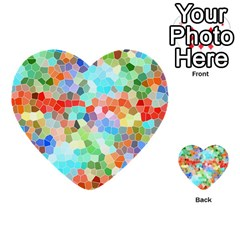 Colorful Mosaic  Multi Purpose Cards (heart)  by designworld65