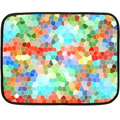 Colorful Mosaic  Fleece Blanket (mini) by designworld65