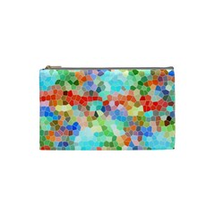Colorful Mosaic  Cosmetic Bag (small)  by designworld65