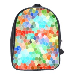 Colorful Mosaic  School Bags(Large)