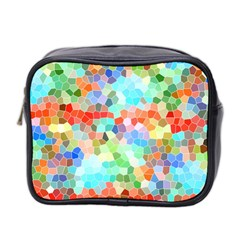 Colorful Mosaic  Mini Toiletries Bag 2 Side by designworld65