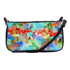 Colorful Mosaic  Shoulder Clutch Bags by designworld65