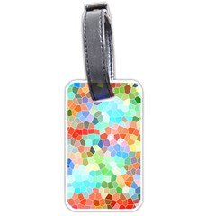 Colorful Mosaic  Luggage Tags (one Side)  by designworld65