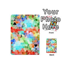 Colorful Mosaic  Playing Cards 54 (mini)  by designworld65