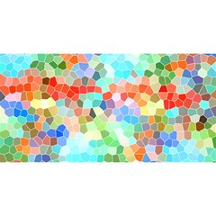 Colorful Mosaic  You Are Invited 3d Greeting Card (8x4) by designworld65