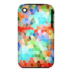 Colorful Mosaic  Apple Iphone 3g/3gs Hardshell Case (pc+silicone) by designworld65