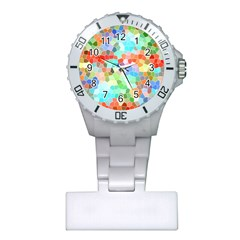 Colorful Mosaic  Plastic Nurses Watch by designworld65