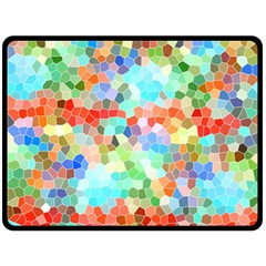 Colorful Mosaic  Double Sided Fleece Blanket (large)  by designworld65