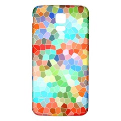 Colorful Mosaic  Samsung Galaxy S5 Back Case (White)