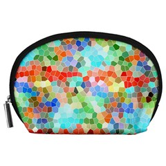 Colorful Mosaic  Accessory Pouches (large)  by designworld65