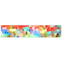 Colorful Mosaic  Flano Scarf (small) by designworld65