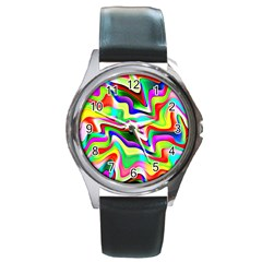 Irritation Colorful Dream Round Metal Watch