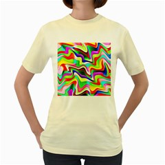 Irritation Colorful Dream Women s Yellow T-Shirt