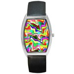 Irritation Colorful Dream Barrel Style Metal Watch Front