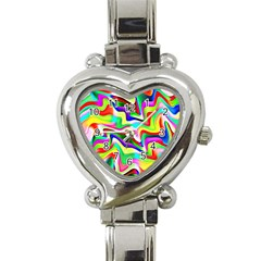 Irritation Colorful Dream Heart Italian Charm Watch