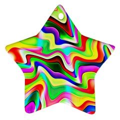 Irritation Colorful Dream Star Ornament (two Sides)  by designworld65