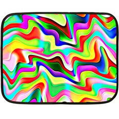 Irritation Colorful Dream Double Sided Fleece Blanket (mini)  by designworld65