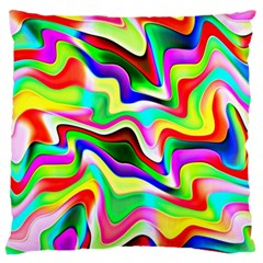 Irritation Colorful Dream Large Flano Cushion Case (One Side)