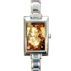Sparkling Lights Rectangle Italian Charm Watch