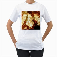 Sparkling Lights Women s T-Shirt (White) (Two Sided)