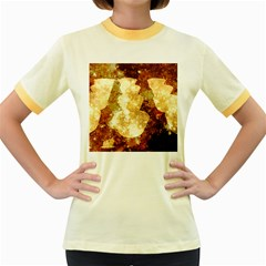 Sparkling Lights Women s Fitted Ringer T Shirts by yoursparklingshop