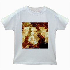 Sparkling Lights Kids White T Shirts by yoursparklingshop