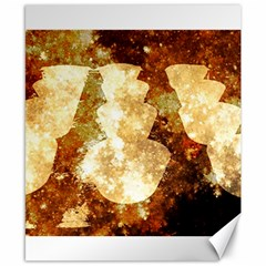 Sparkling Lights Canvas 8  X 10  by yoursparklingshop