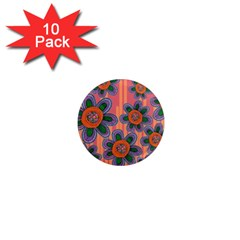 Colorful Floral Dream 1  Mini Magnet (10 pack)