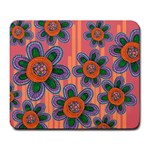 Colorful Floral Dream Large Mousepads Front