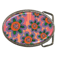 Colorful Floral Dream Belt Buckles