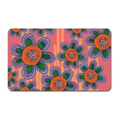 Colorful Floral Dream Magnet (Rectangular)