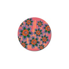Colorful Floral Dream Golf Ball Marker (4 Pack) by DanaeStudio