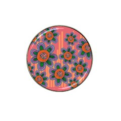 Colorful Floral Dream Hat Clip Ball Marker
