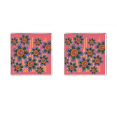 Colorful Floral Dream Cufflinks (Square)