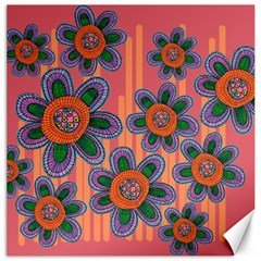 Colorful Floral Dream Canvas 20  X 20   by DanaeStudio