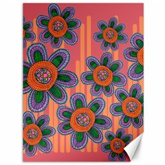 Colorful Floral Dream Canvas 36  X 48   by DanaeStudio