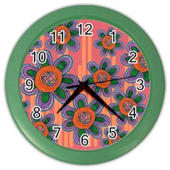 Colorful Floral Dream Color Wall Clocks