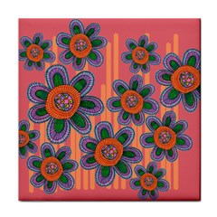 Colorful Floral Dream Face Towel by DanaeStudio