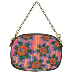 Colorful Floral Dream Chain Purses (One Side)