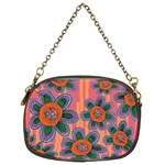 Colorful Floral Dream Chain Purses (Two Sides)  Front