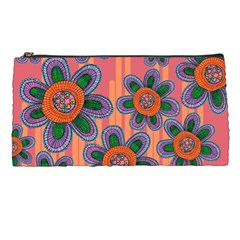 Colorful Floral Dream Pencil Cases by DanaeStudio