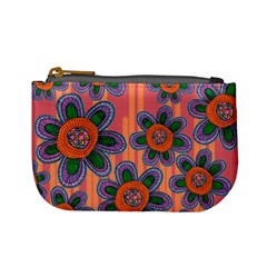 Colorful Floral Dream Mini Coin Purses by DanaeStudio