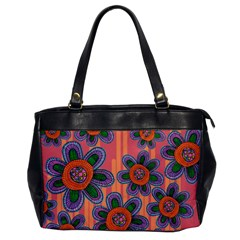 Colorful Floral Dream Office Handbags