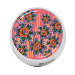 Colorful Floral Dream 4-Port USB Hub (One Side)